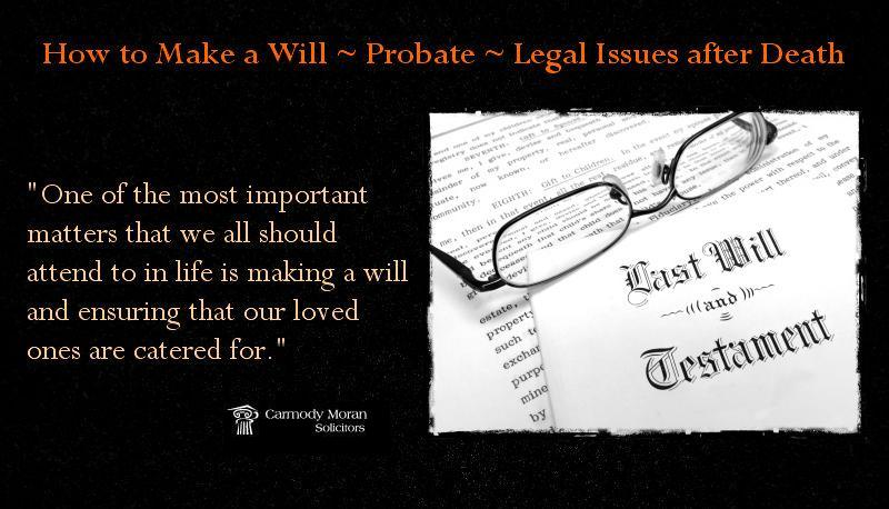 Guide to making a will